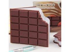 Poznámkový blok ukousnutá čokoláda 1
