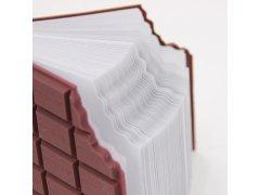 Poznámkový blok ukousnutá čokoláda 5