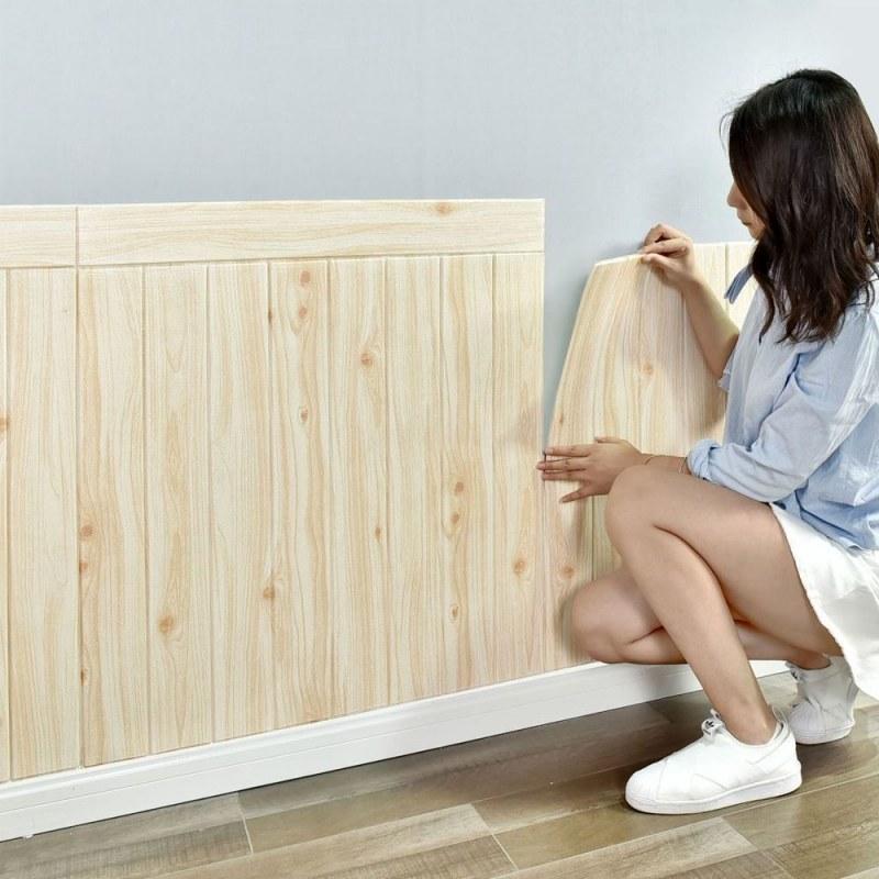 3D tapeta - světlé dřevo