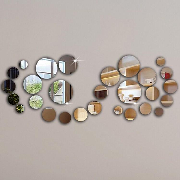 Nálepky na zeď/zrcadlo - kolečka