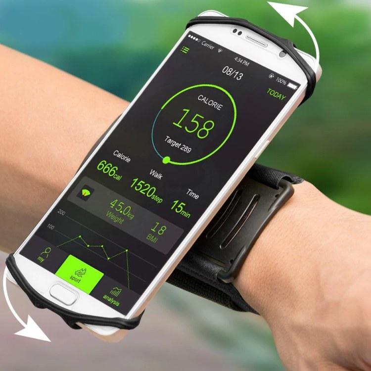 Otočný držák mobilu na zápěstí