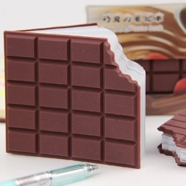 Poznámkový blok ukousnutá čokoláda - Dárky.pro