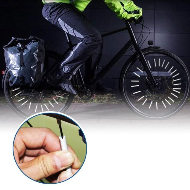 Reflexní tyčky na kolo