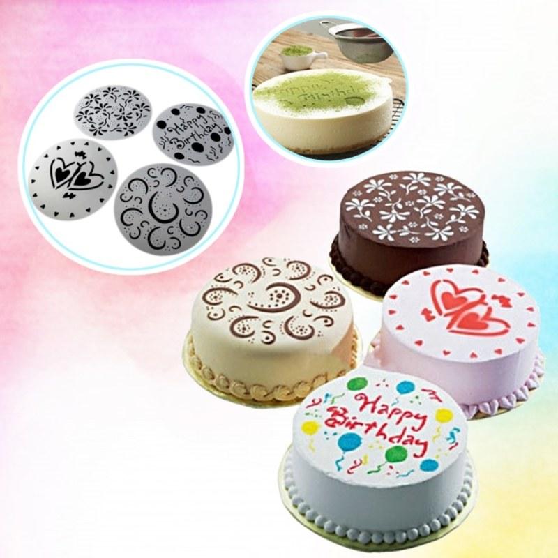 Šablony na zdobení dortů 4 ks