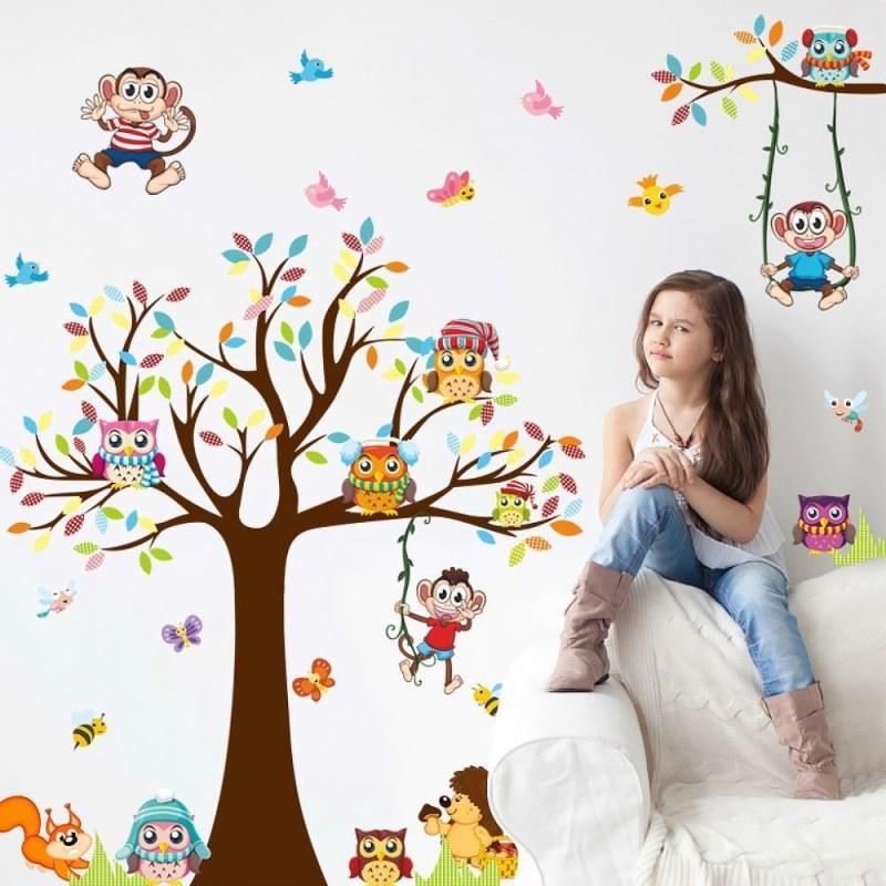 Samolepky na zeď - Veselé opice