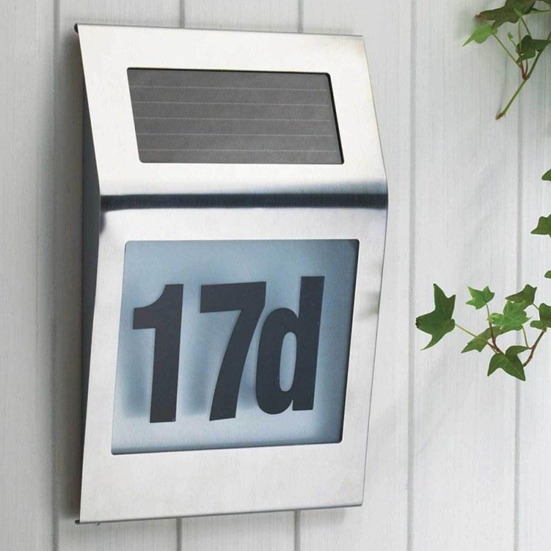 Solární světlo s číslem domu